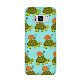 Turtle and Snail Pattern by Coffee Man (tortoise, turtle, snail, animal,animals,cute, adorble, fun, funny, humor, pte, pets, pet lover, time, velocity, racing, travel, kids)
