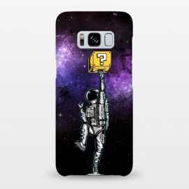 Galaxy S8+  Astronaut and Star by Coffee Man (astronaut, space man, space, fun, funny,humor, gamer, gaming, retro, geek, nerd, universe, galaxy, star)