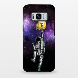 Galaxy S8 plus  Astronaut and Star by  (astronaut, space man, space, fun, funny,humor, gamer, gaming, retro, geek, nerd, universe, galaxy, star)