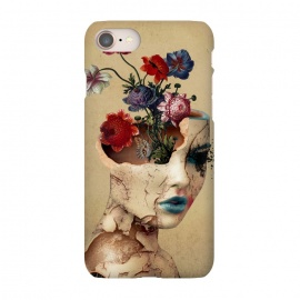 iPhone 8/7  Broken Beauty by Riza Peker (woman,flowers,floral,digitalart,art,surreal,cracked)