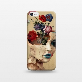 iPhone 5C  Broken Beauty by Riza Peker (woman,flowers,floral,digitalart,art,surreal,cracked)