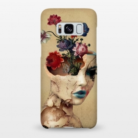 Galaxy S8+  Broken Beauty by Riza Peker (woman,flowers,floral,digitalart,art,surreal,cracked)