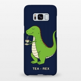 Galaxy S8+  Tea Rex by Coffee Man (tea, trex,dinosaur,dinosaurs,fun,funny,humor,london,tea time,t-rex,kid,kids,jurassic)
