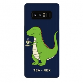 Galaxy Note 8  Tea Rex by Coffee Man (tea, trex,dinosaur,dinosaurs,fun,funny,humor,london,tea time,t-rex,kid,kids,jurassic)