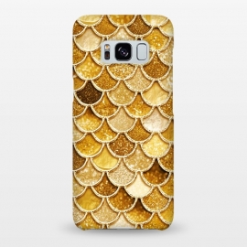 Galaxy S8+  Faux Gold Glitter Mermaid Scales by Utart