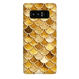 Galaxy Note 8  Faux Gold Glitter Mermaid Scales by Utart
