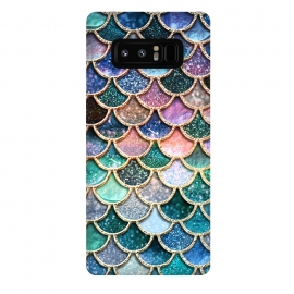 Galaxy Note 8  Multicolor Spring Mermaid Scales by Utart