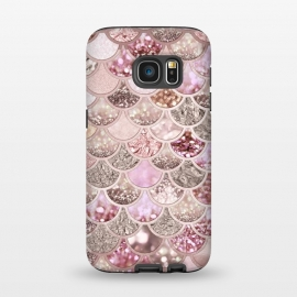 Galaxy S7  Multicolor Pink & Rose Gold Mermaid Scales by Utart
