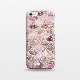 iPhone 5C  Multicolor Pink & Rose Gold Mermaid Scales by Utart