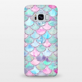 Galaxy S8+  Multicolor Pink & Blue Watercolor Mermaid Scales by Utart