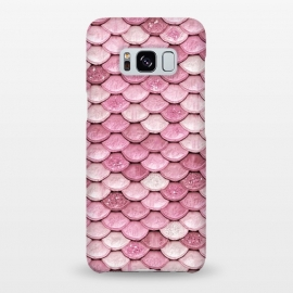 Galaxy S8+  Rose Gold Pink Metal Mermaid Scales by Utart