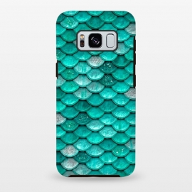 Galaxy S8+  Mint Glitter Metal Foil Mermaid Scales by Utart
