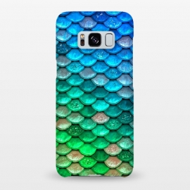 Galaxy S8+  Green & Blue Glitter Mermaid Scales by Utart