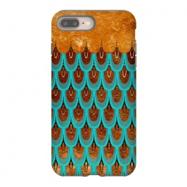 Copper & Teal Gold Mermaid Scales by Utart