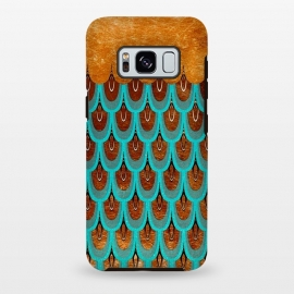Galaxy S8+  Copper & Teal Gold Mermaid Scales by Utart
