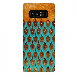 Galaxy Note 8  Copper & Teal Gold Mermaid Scales by