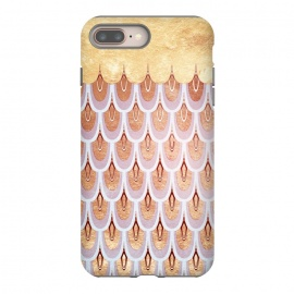 iPhone 8/7 plus  Elegant Pink & Gold Mermaid Scales by Utart