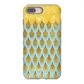 Elegant Light Aqua & Gold Mermaid Scales by Utart