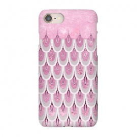iPhone 8/7  Multicolor Pink & Silver Gray Mermaid Scales by Utart