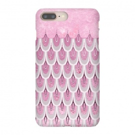 Multicolor Pink & Silver Gray Mermaid Scales by Utart