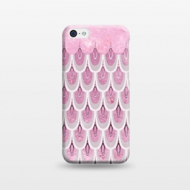 iPhone 5C  Multicolor Pink & Silver Gray Mermaid Scales by Utart