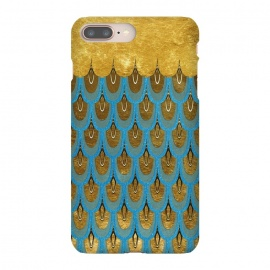 Multicolor Teal & Gold Mermaid Scales by Utart