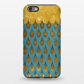 iPhone 6/6s plus  Multicolor Teal & Gold Mermaid Scales by Utart