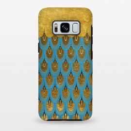 Galaxy S8+  Multicolor Teal & Gold Mermaid Scales by Utart