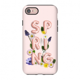 iPhone 8/7  SPRING - Flower Shiny Rose Gold Girly Flower Typography  by Utart