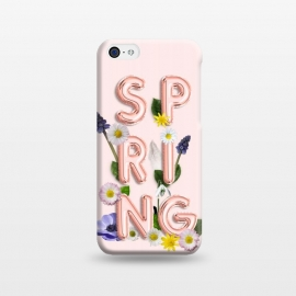 iPhone 5C  SPRING - Flower Shiny Rose Gold Girly Flower Typography  by Utart