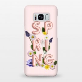 Galaxy S8+  SPRING - Flower Shiny Rose Gold Girly Flower Typography  by Utart