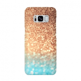 Galaxy S8  Mermaid Blue and Rose Gold Blush Glitter by Utart