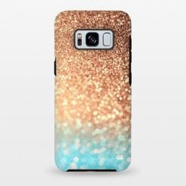 Galaxy S8+  Mermaid Blue and Rose Gold Blush Glitter by Utart