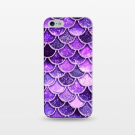iPhone 5/5E/5s  Ultra Violet Glitter Mermaid Scales by Utart