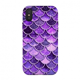 iPhone Xs / X  Ultra Violet Glitter Mermaid Scales by