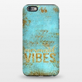 iPhone 6/6s plus  Mermaid Vibes - Teal & Gold Glitter Typography by Utart