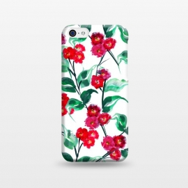 iPhone 5C  Tropical Watercolor Flower Pattern VII by Bledi