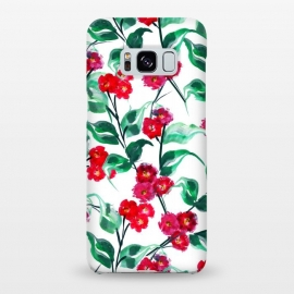Galaxy S8+  Tropical Watercolor Flower Pattern VII by Bledi