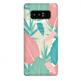 Galaxy Note 8  Tropical Watercolor Flower Pattern XII by Bledi