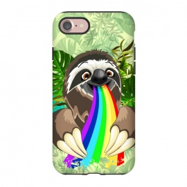 iPhone 8/7  Sloth Spitting Rainbow Colors by BluedarkArt