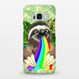 Galaxy S8+  Sloth Spitting Rainbow Colors by BluedarkArt