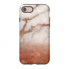 iPhone 8/7  Copper Trendy Veined Marble by Utart