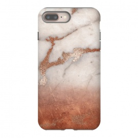 iPhone 8/7 plus  Copper Trendy Veined Marble by Utart