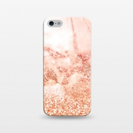 iPhone 5/5E/5s  Salmon Glitter Marble by Utart