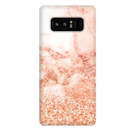 Galaxy Note 8  Salmon Glitter Marble by Utart