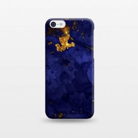 iPhone 5C  Indigo and Gold Ink Marble by Utart