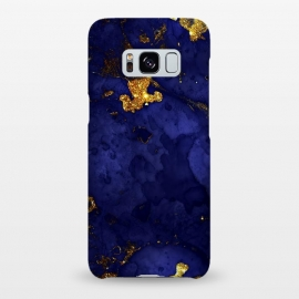 Galaxy S8+  Indigo and Gold Ink Marble by Utart