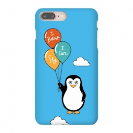 iPhone 8/7 plus  Penguin I Believe I Can Fly by  (penguin, cute, adorable, kid, kids, children, i believe i can fly, fly, flying, pet, pets, pet lover, animal lover, sky, balloons, fun, funny, humor)