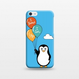 iPhone 5C  Penguin I Believe I Can Fly by Coffee Man (penguin, cute, adorable, kid, kids, children, i believe i can fly, fly, flying, pet, pets, pet lover, animal lover, sky, balloons, fun, funny, humor)