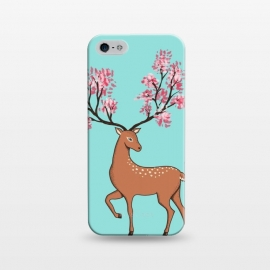 iPhone 5/5E/5s  Natural Deer by Coffee Man (floral, natural, animal, animals, deer, flowers, cute, adorable, girl, forest, pet, pet lover, wild)
